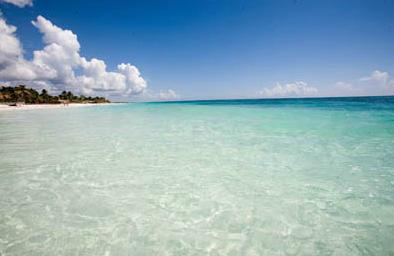 pristine perfect caribbean beach tulum mexico