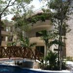 Zama Village Tulum condo for rent pool bridge eco chic design